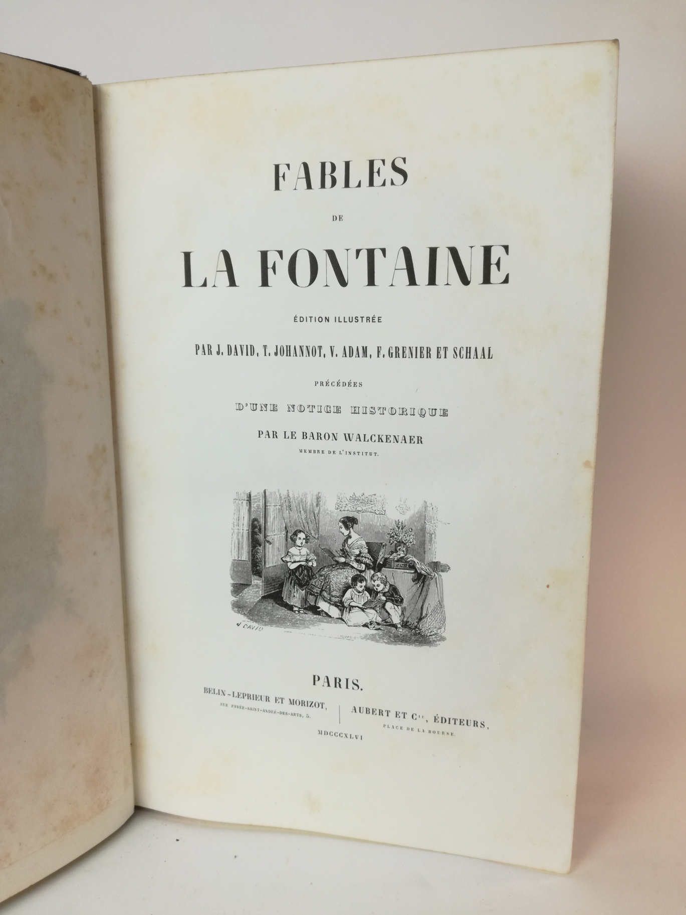 Baron Walckenaer: Fables de La Fontaine Edition Illustree