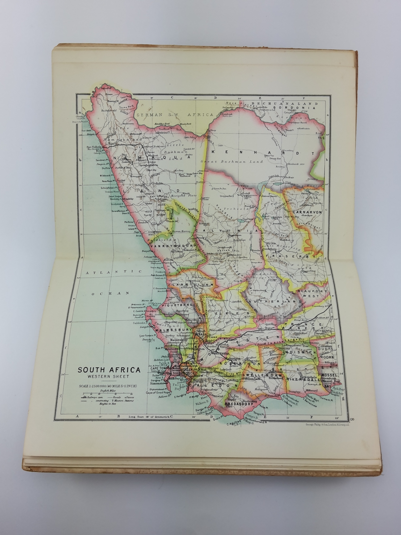 South Africa, Castle Line: The Castle Line Atlas of South Africa A series of 16 plates, printed in colour, containing 30 maps and diagrams. With an account of the geographical features, the climate, the mineral and other resources, and the history of Sout
